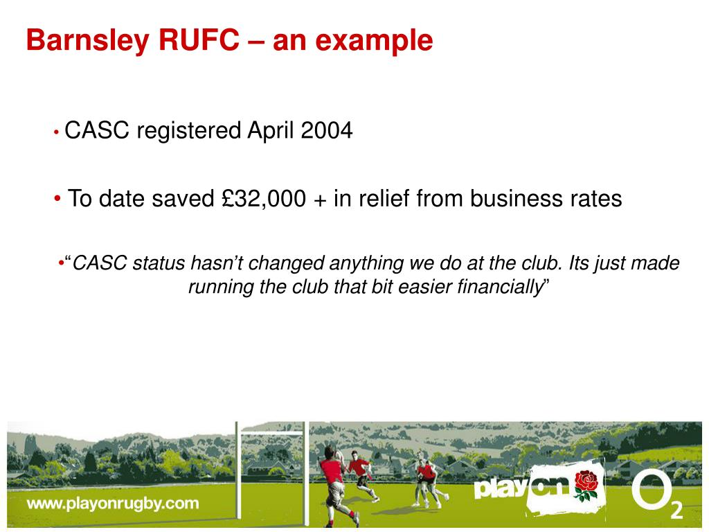 Barnsley RUFC – an example