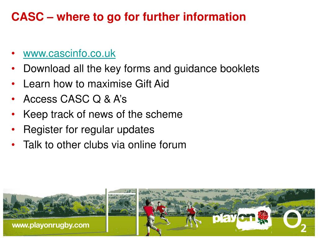CASC – where to go for further information