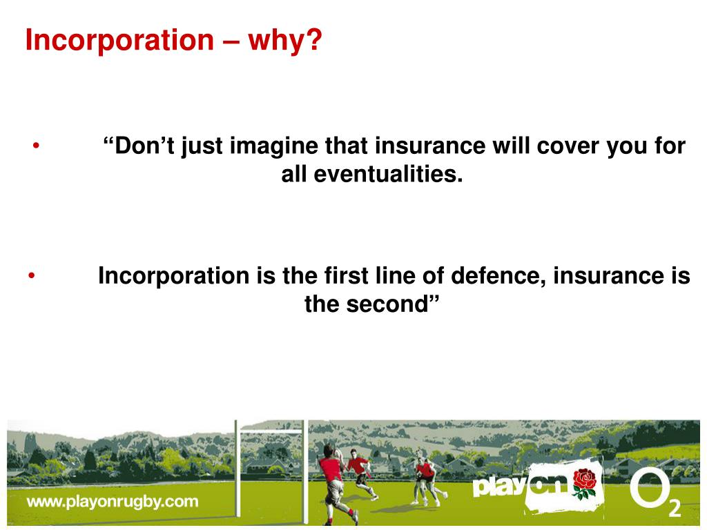 Incorporation – why?