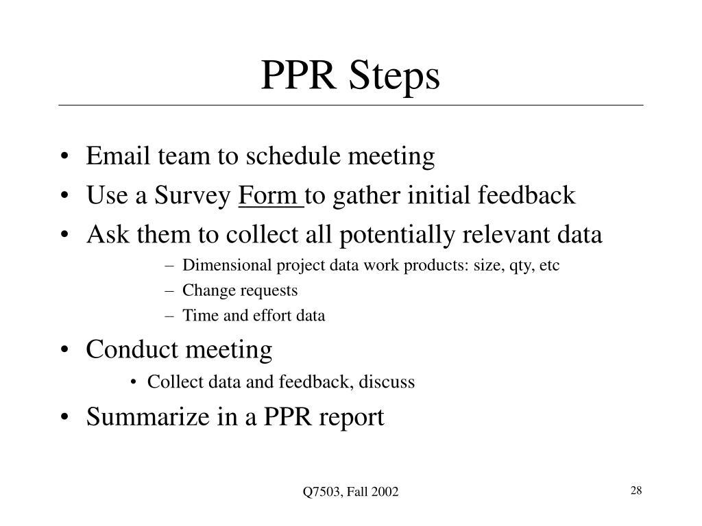 PPR Steps
