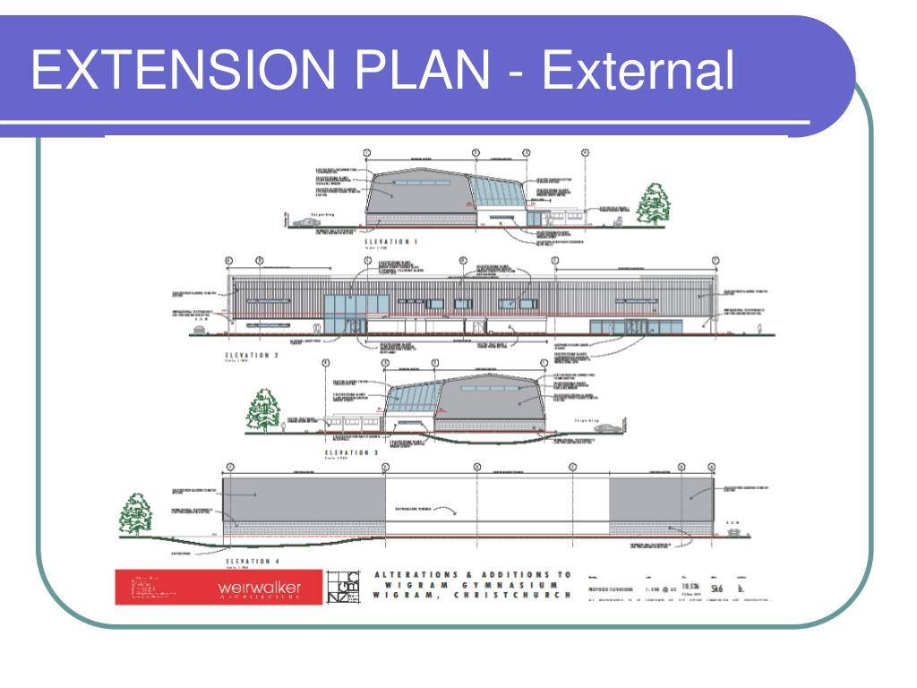 EXTENSION PLAN - External
