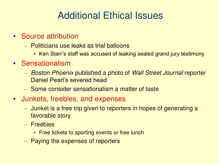 Additional Ethical Issues