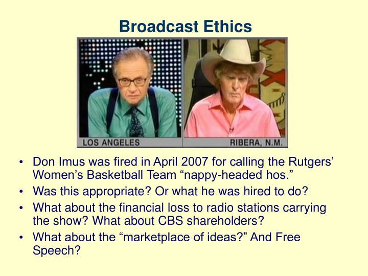 Broadcast Ethics