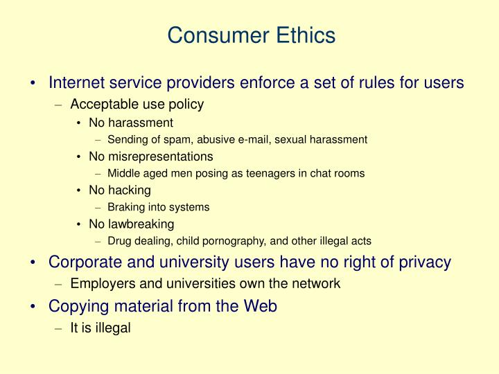 Consumer Ethics