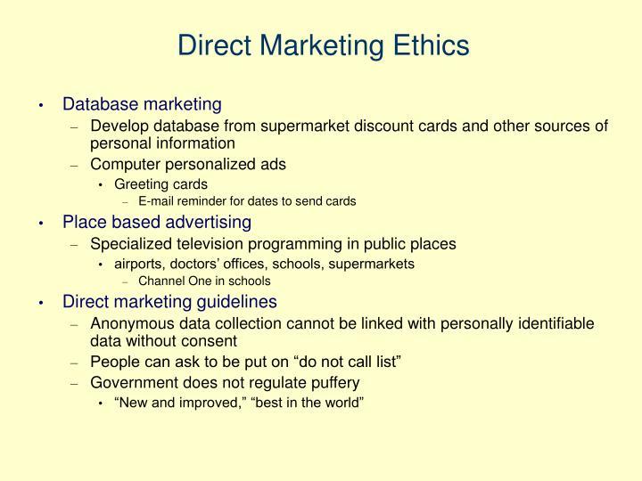 Direct Marketing Ethics