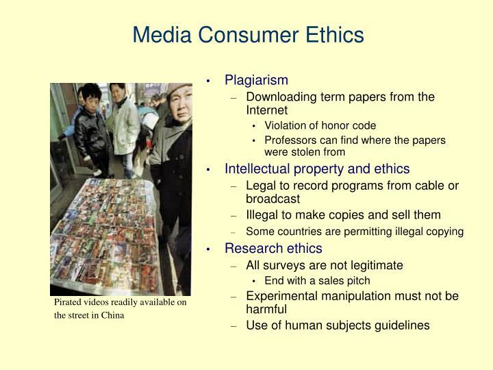 Media Consumer Ethics