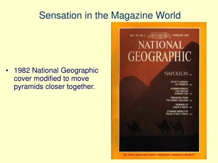 Sensation in the Magazine World
