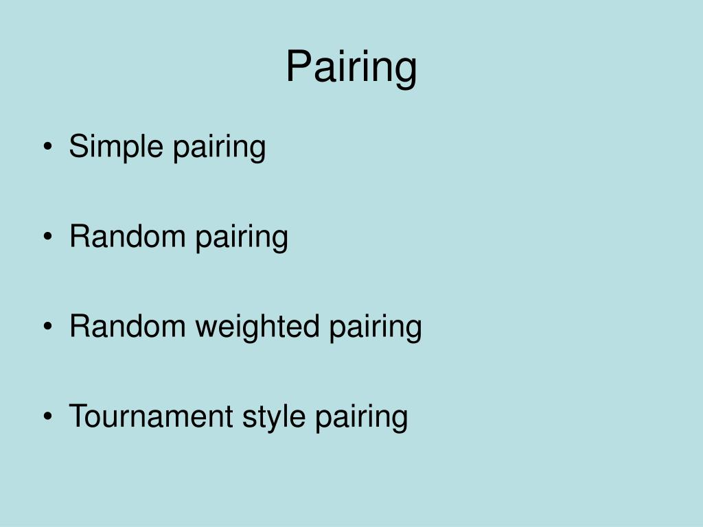 Pairing