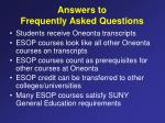 answers to frequently asked questions
