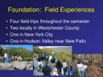 foundation field experiences