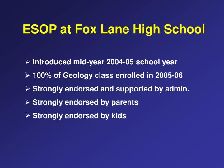 ESOP at Fox Lane High School