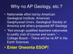 why no ap geology etc