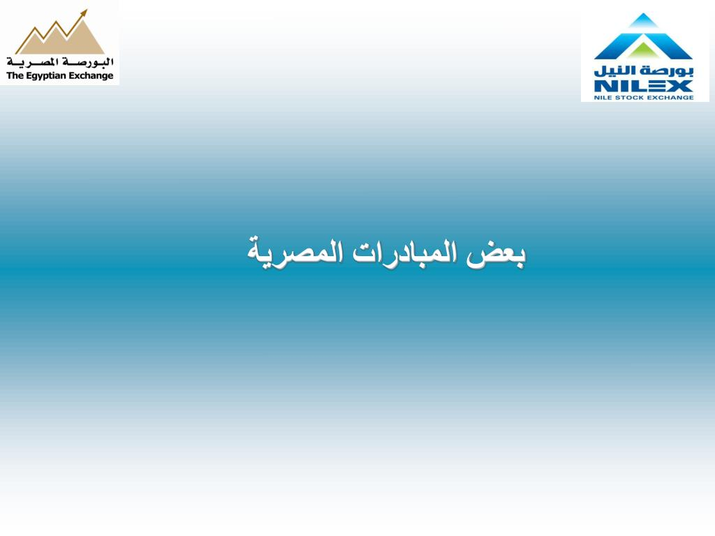 بعض المبادرات المصرية