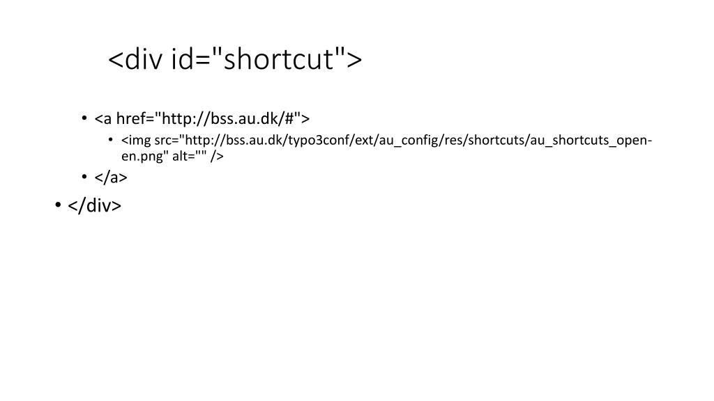 "<div id=""shortcut"">"