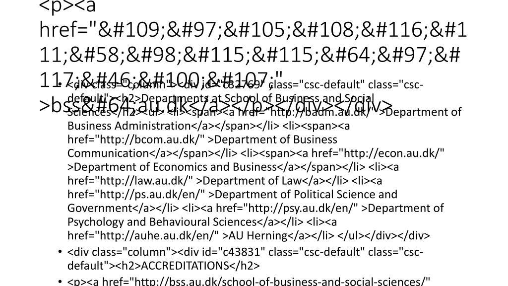 "</p><p><a href=""mailto:bss@au.dk"" >bss@au.dk</a></p></div></div>"
