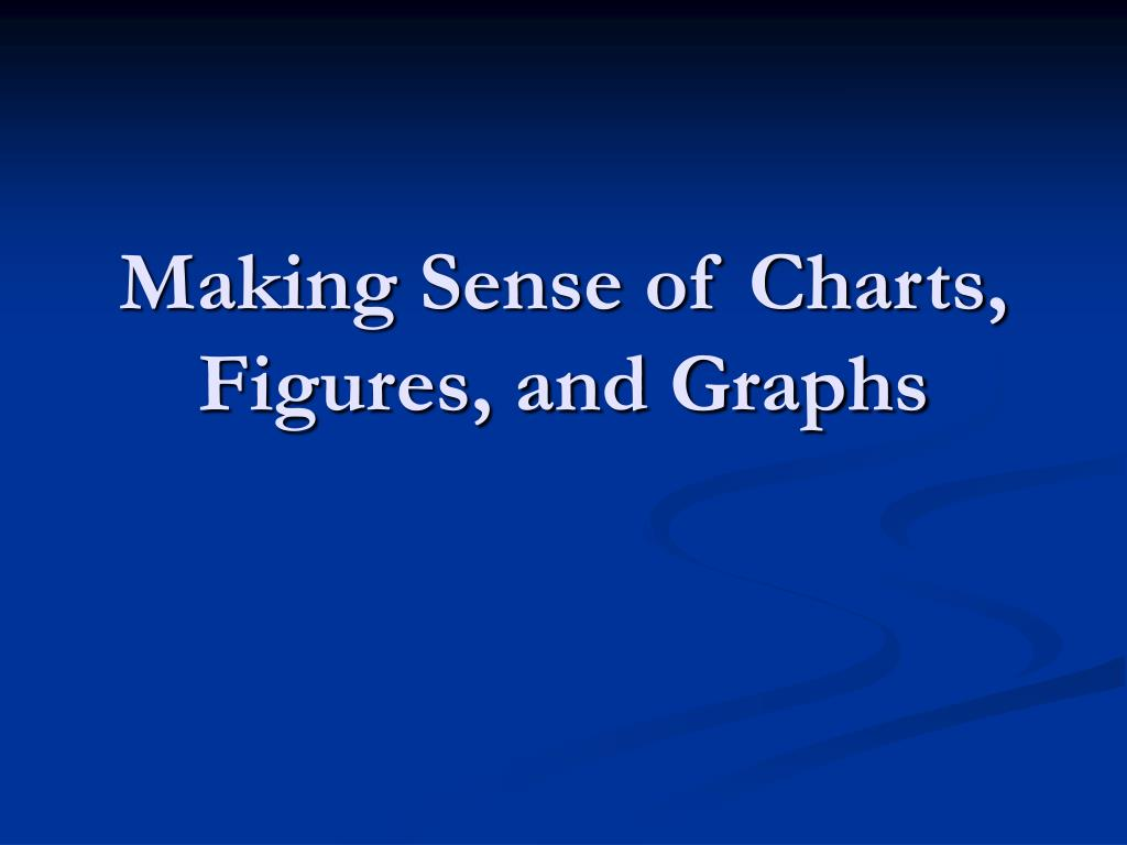 Making Sense of Charts, Figures, and Graphs