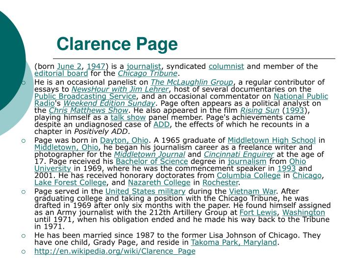 Clarence Page