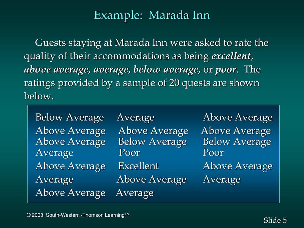 Example:  Marada Inn