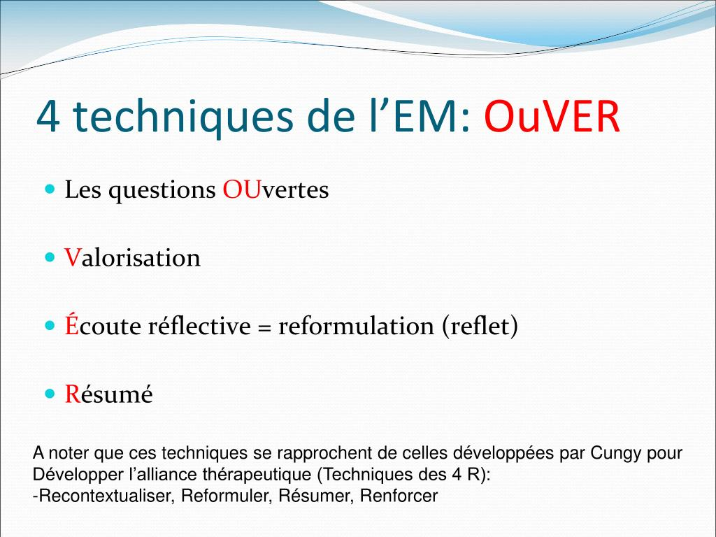 ppt - entretien motivationnel powerpoint presentation