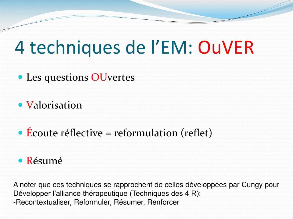ppt - entretien motivationnel powerpoint presentation