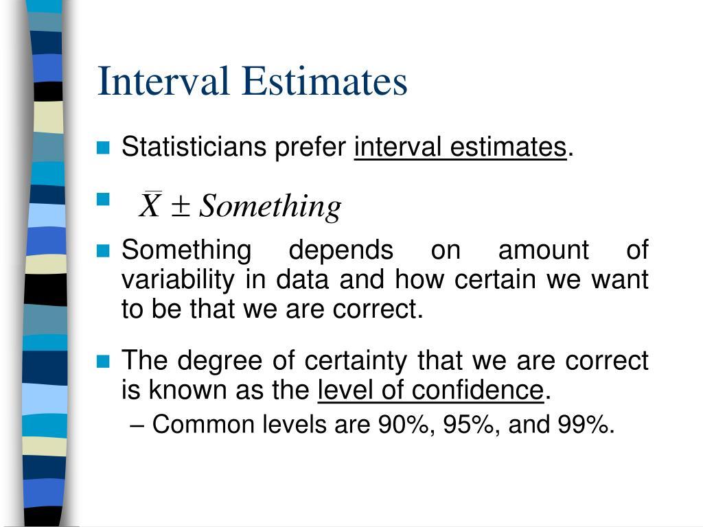 Interval Estimates
