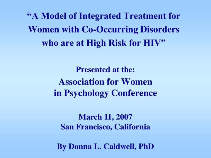 Association for women in psychology conference