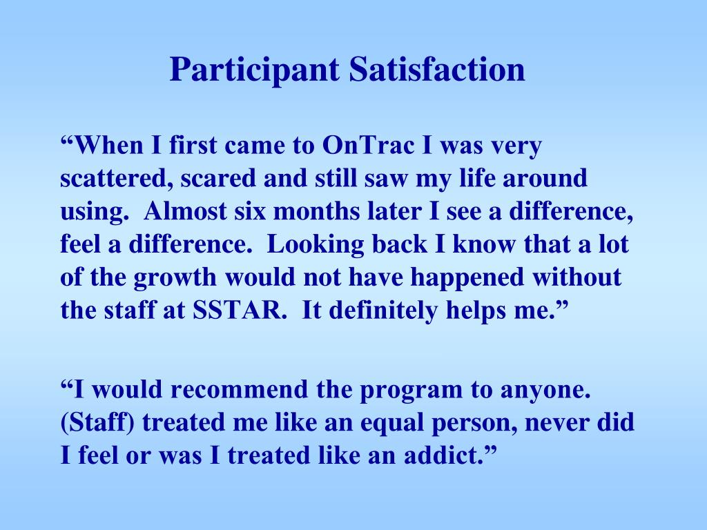Participant Satisfaction
