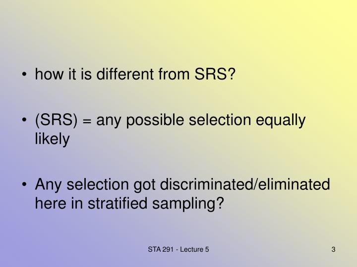 How it is different from SRS?