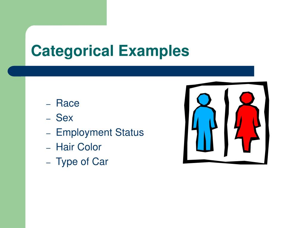 Categorical Examples
