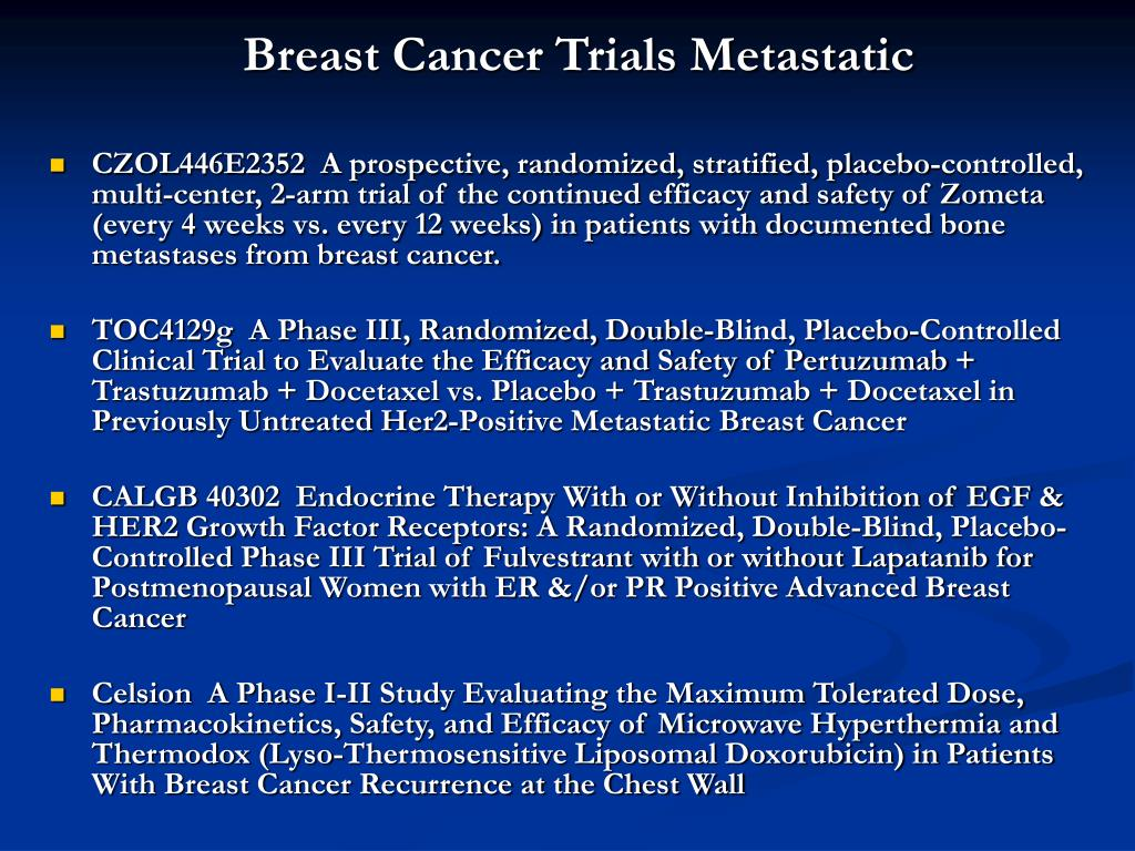 Breast Cancer Trials Metastatic