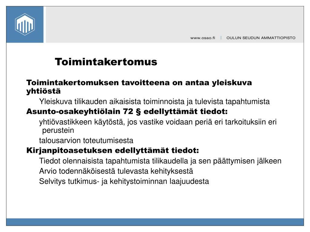 Toimintakertomus