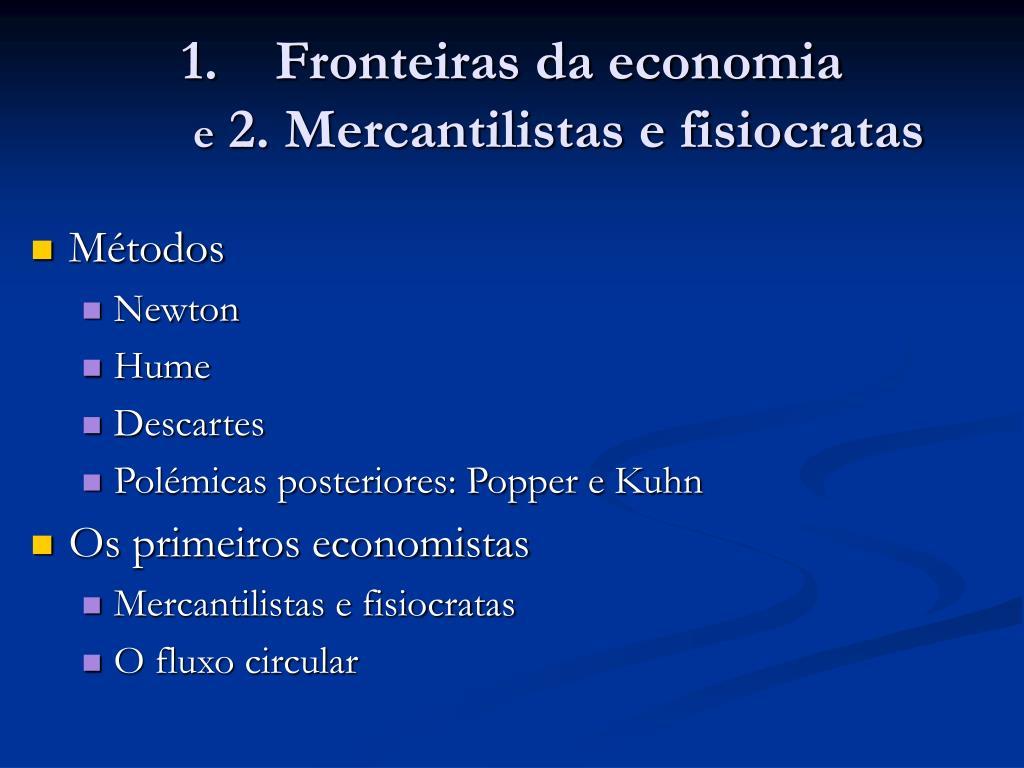 Fronteiras da economia