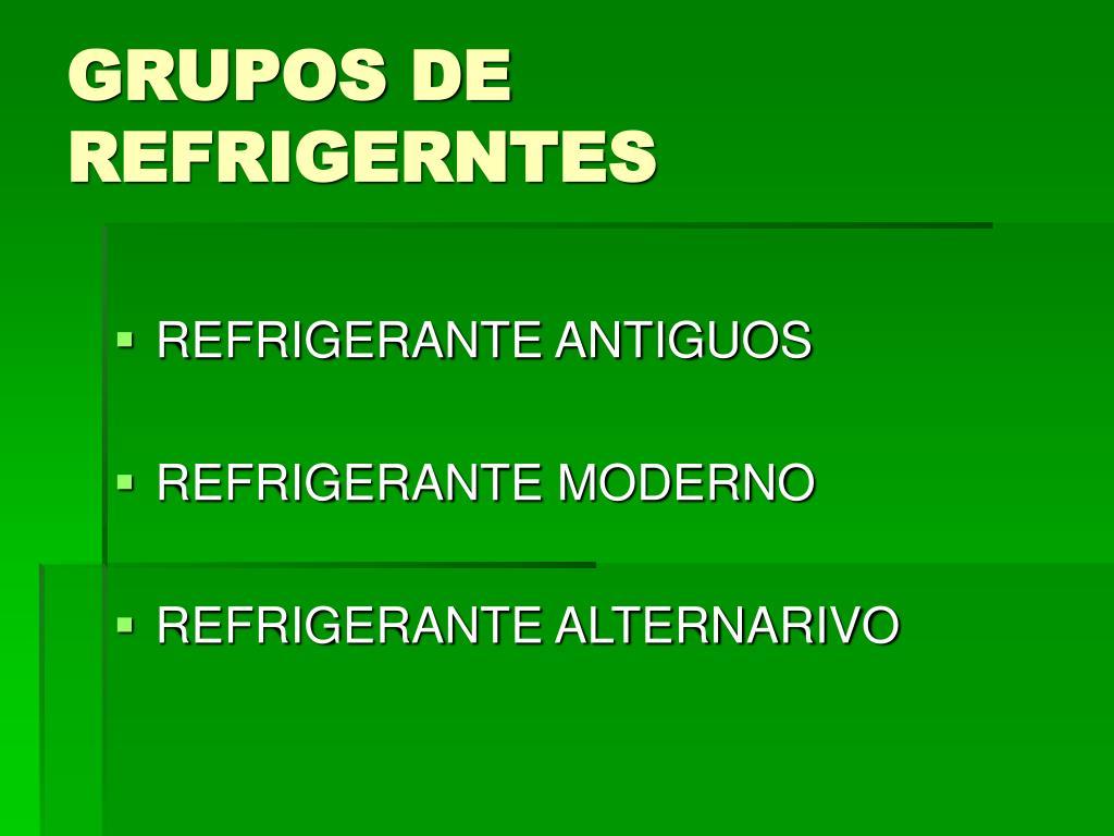 GRUPOS DE REFRIGERNTES