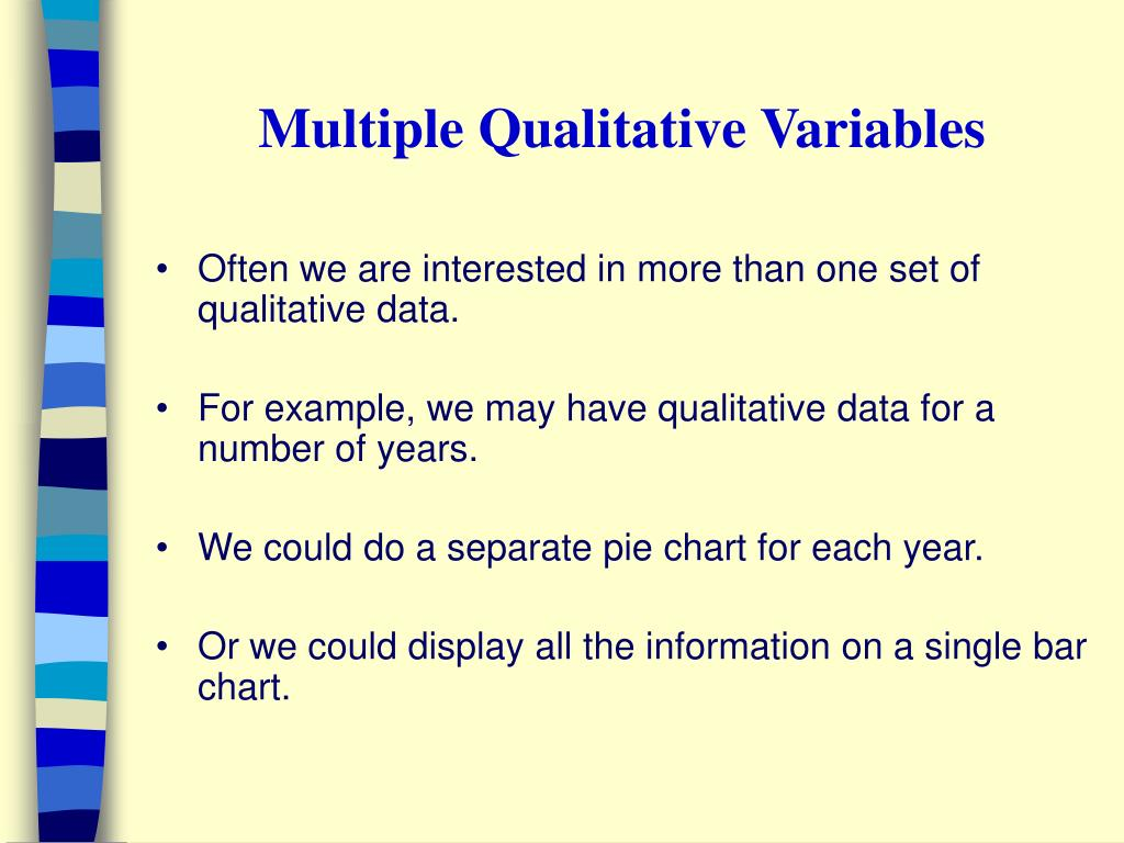 Multiple Qualitative Variables