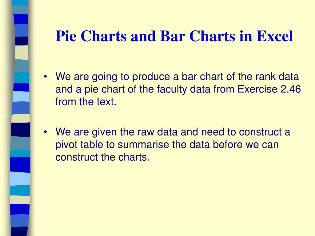 Pie Charts and Bar Charts in Excel