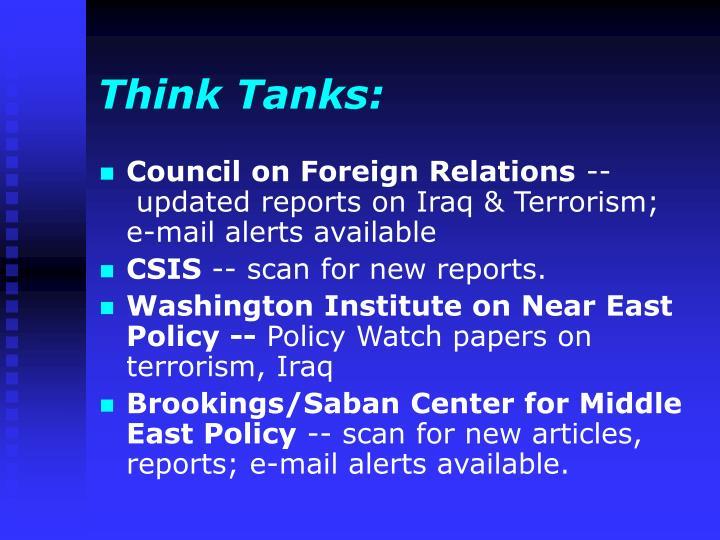 Think Tanks: