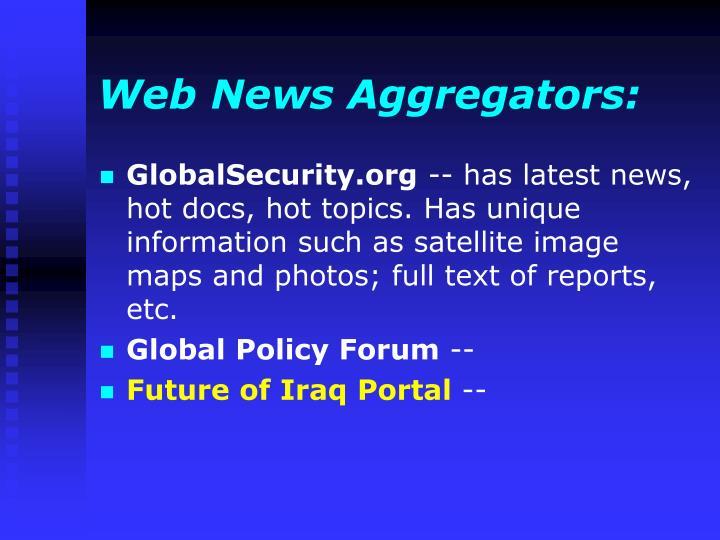 Web News Aggregators: