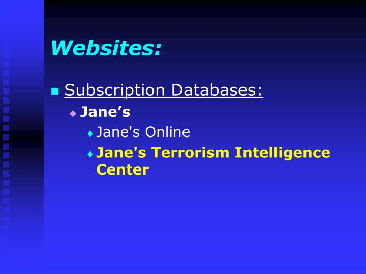 Websites: