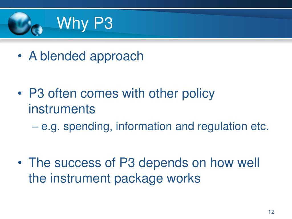 Why P3