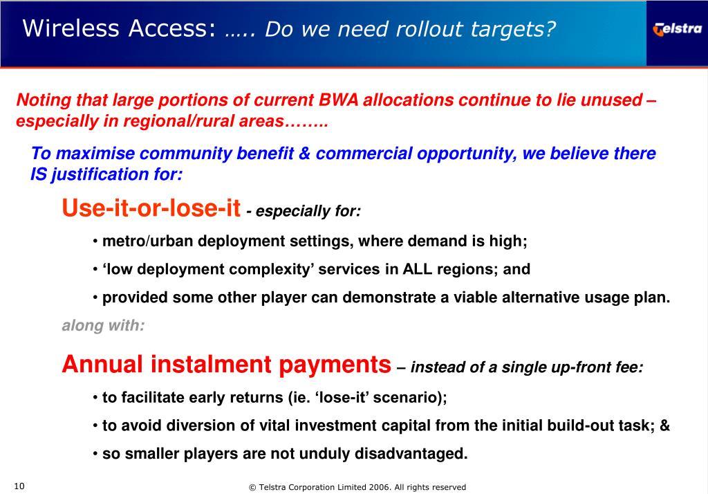 Wireless Access: