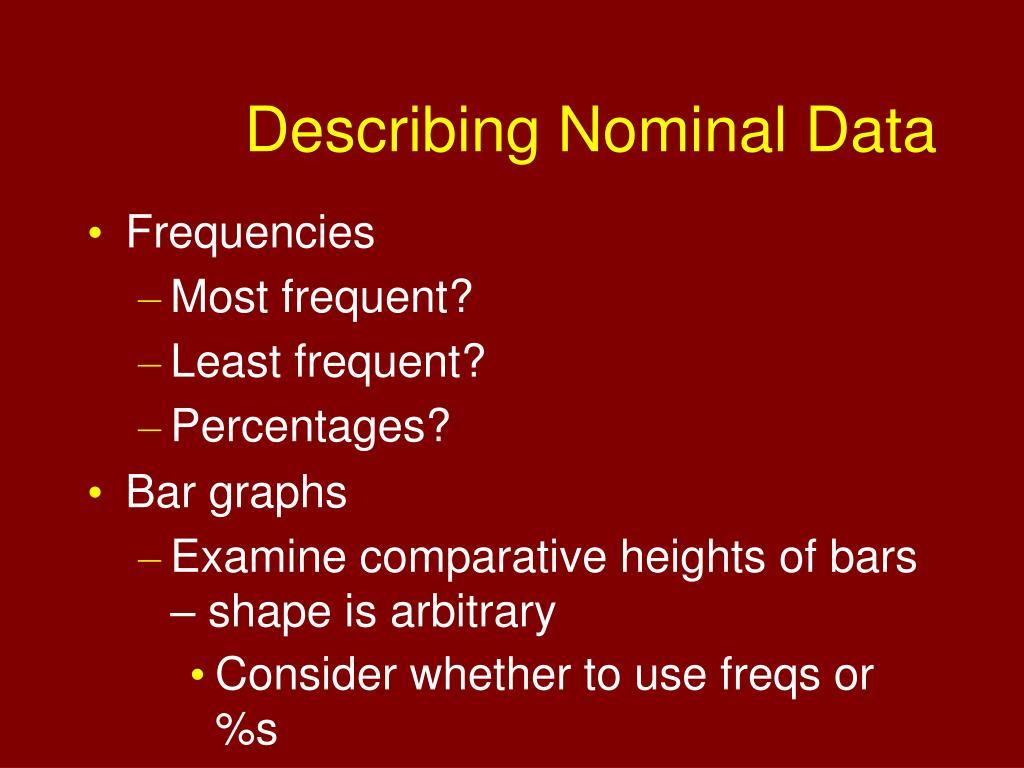 Describing Nominal Data