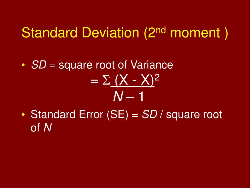 Standard Deviation (2