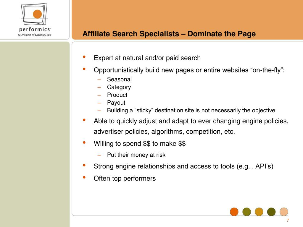 Affiliate Search Specialists – Dominate the Page