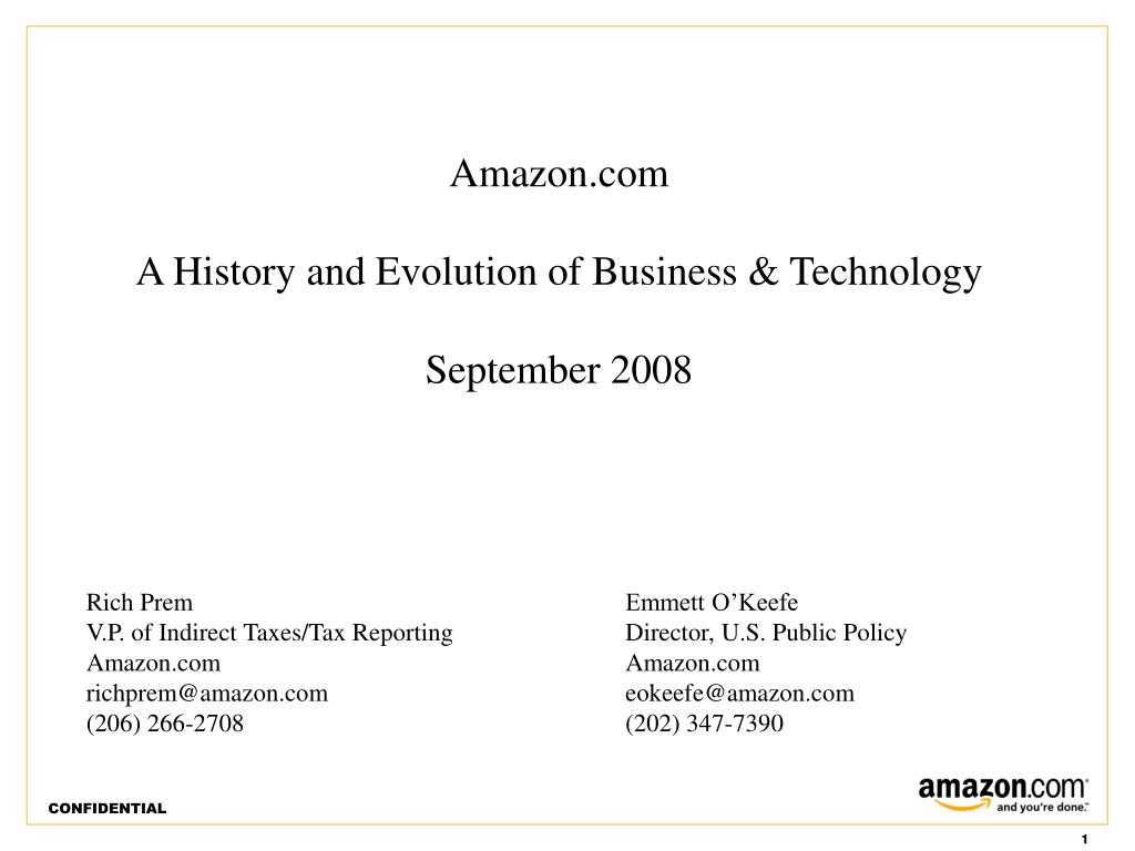 amazon com a history and evolution of business technology september 2008