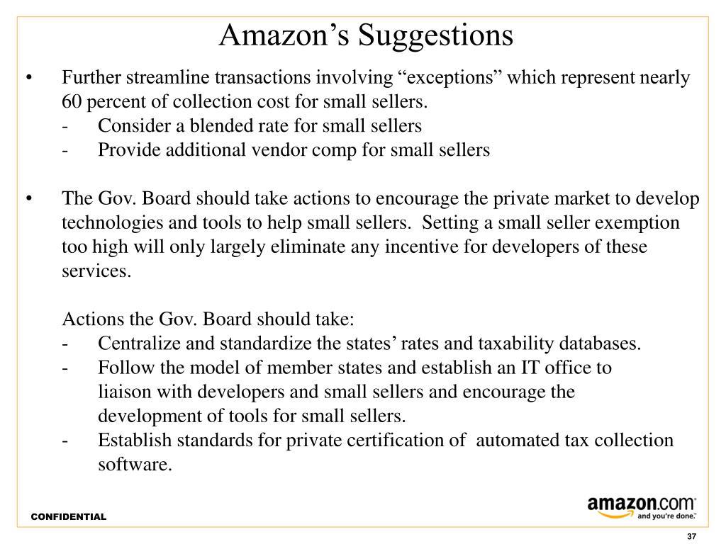 Amazon's Suggestions