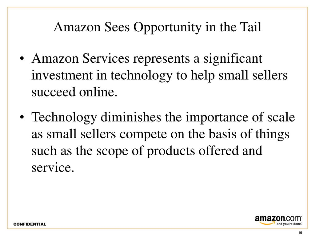 Amazon Sees Opportunity in the Tail