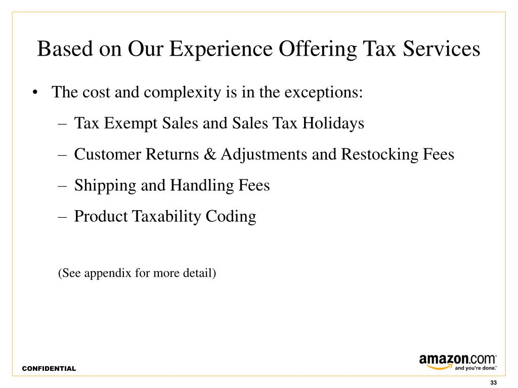 Based on Our Experience Offering Tax Services