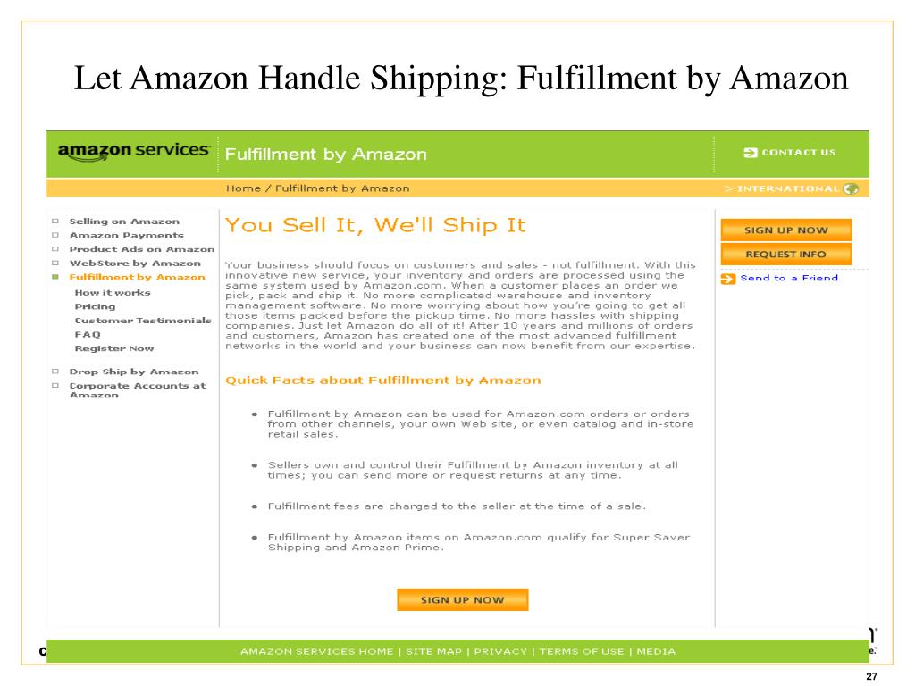 Let Amazon Handle Shipping: Fulfillment by Amazon