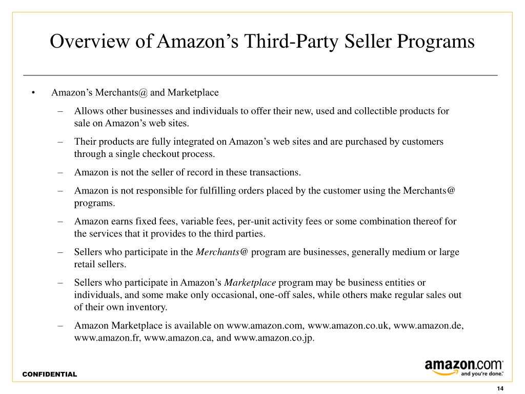 Overview of Amazon's Third-Party Seller Programs
