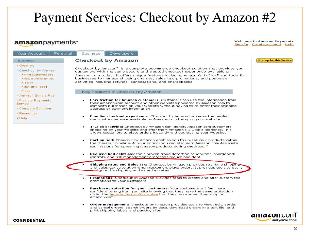 Payment Services: Checkout by Amazon #2